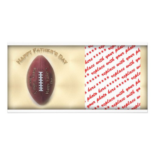 Happy Father's Day Football On Gold Background Photo Card