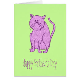 Happy fathers day cat gifts on zazzle au happy fathers day from cat card sciox Gallery