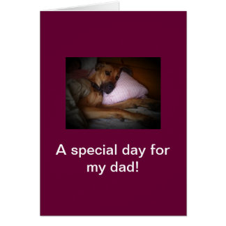 happy fathers day from dog note card