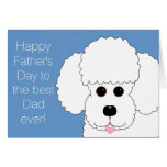 Happy Father's Day from The Fur Kid Poodle Card