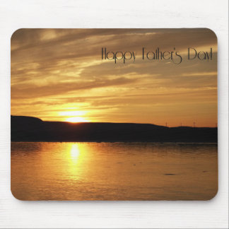 Happy Father's Day Golden Sunset Mouse Pad