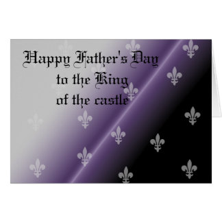 Happy Father's Day gothic royalty Card