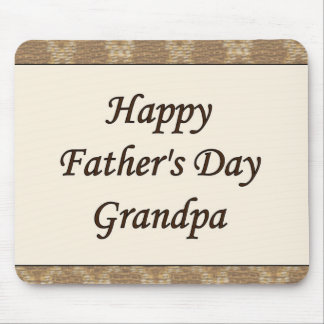 Happy Father's Day Grandpa Mouse Mat