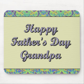 Happy Father's Day Grandpa Mouse Mats