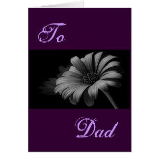 Happy Father's Day Grey Daisy I Greeting Card