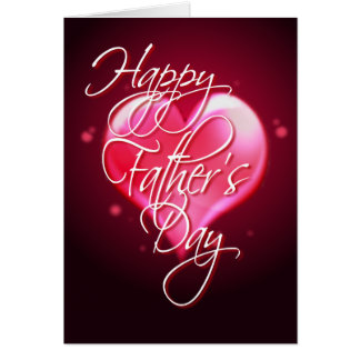 HAPPY FATHER'S DAY HEART by SHARON SHARPE Card