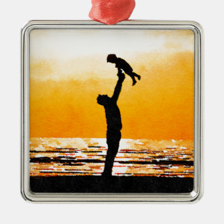 Happy Father's Day Metal Ornament