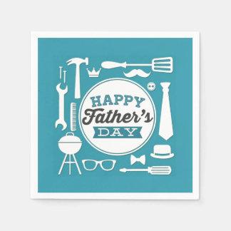Happy Father's Day Party Napkins Paper Serviettes
