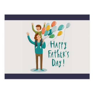 Happy Father's Day Postcard
