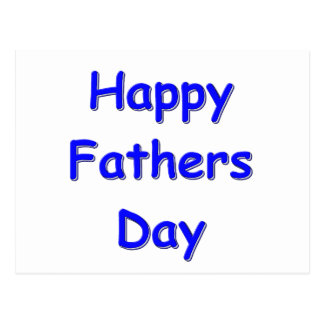 Happy Fathers Day Postcard