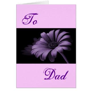 Happy Father's Day Purple Grey Daisy II Greeting Card