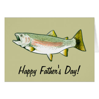 Happy Father's Day: Rainbow Trout Greeting Card