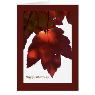 Happy Father's Day - Red Leaf Greeting Card
