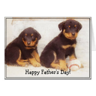 Happy Father's Day Rottweiler greeting card