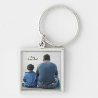 Happy Father's Day ! - Silver-Colored Square Key Ring