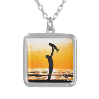 Happy Father's Day Silver Plated Necklace