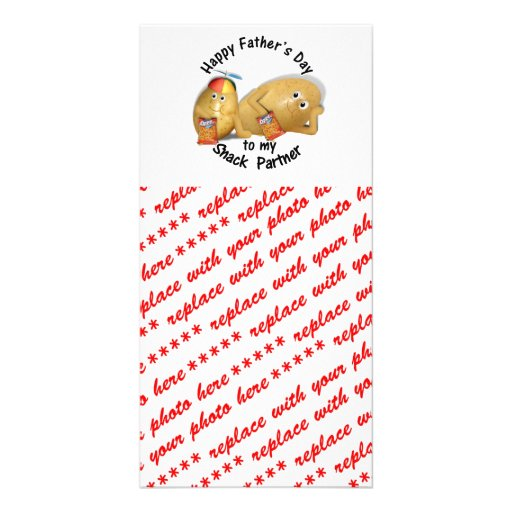 Happy Father's Day Snack Partner (Couch Potatoes) Custom Photo Card