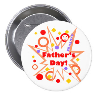 Happy Father's Day Splash 7.5 Cm Round Badge