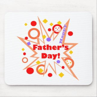 Happy Father's Day Splash Mouse Pad
