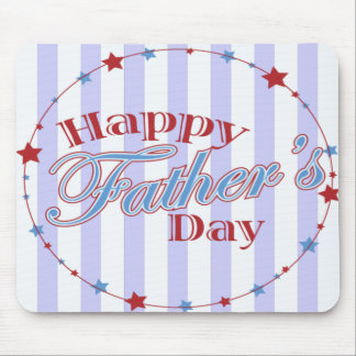 Happy Father's Day Stars Mousepad