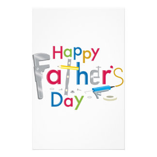 happy father's day customized stationery