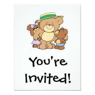happy fathers day teddy bears design 11 cm x 14 cm invitation card