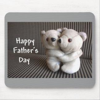 Happy Fathers Day Teddy Bears Hug Mouse Pad