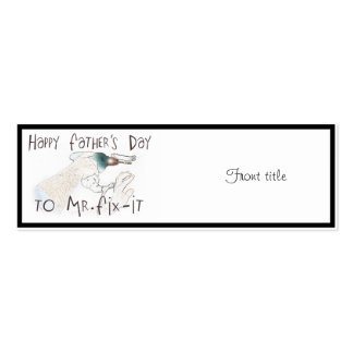Happy Father's Day to Mr Fix-It (With Drill) Pack Of Skinny Business Cards