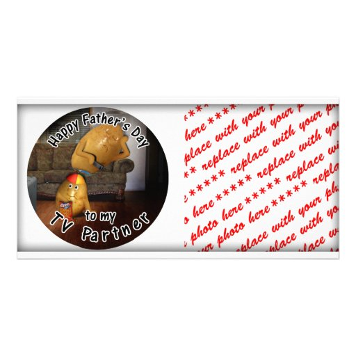 Happy Father's Day to my TV Partner -CouchPotatoes Photo Card Template