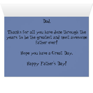 Happy Father's Day to the Best Dad, Ever! Card