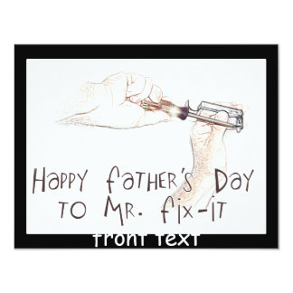 Happy Fathers Day to the Handyman! 11 Cm X 14 Cm Invitation Card