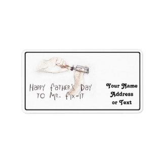 Happy Fathers Day to the Handyman! Address Label