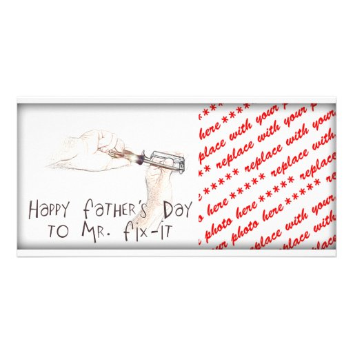 Happy Fathers Day to the Handyman! Photo Card Template