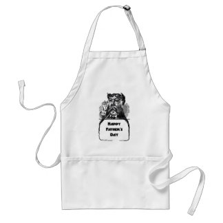 Happy Father's Day Vintage Retro Drawing Standard Apron