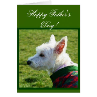Happy Father's Day Westie Terrier card