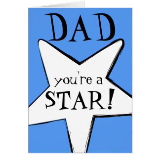Happy Father's Day: You are a Star! Comic-Style Card