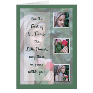 Happy Feast of St, Therese the Little Flower Card