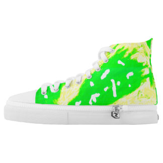 Happy Feeling High Tops Printed Shoes