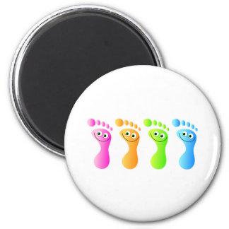 Happy Feet 6 Cm Round Magnet