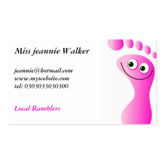 Happy Feet Business Cards