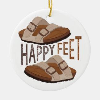 Happy Feet Ceramic Ornament