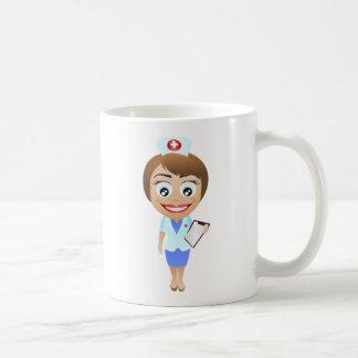 Happy Female Nurse Coffee Mug