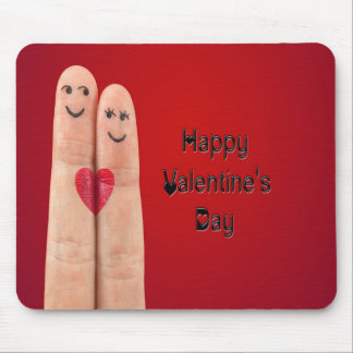 Happy Fingers Valentines Day Mouse Pad