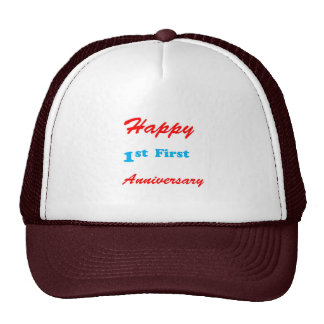 HAPPY First 1st ANNIVERSARY Blessings Celebrations Hats