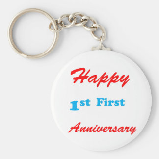 HAPPY First 1st ANNIVERSARY Blessings Celebrations Key Chain