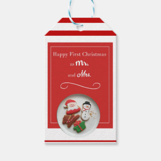 Happy First Christmas as Mr. and Mrs. Gift Tags