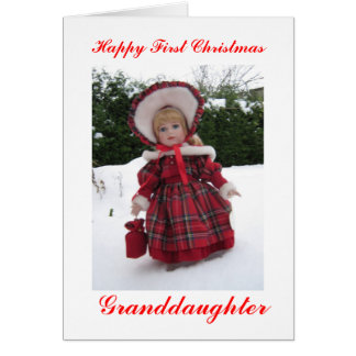 Happy first Christmas granddaughter Card