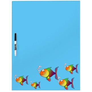 Happy fish dry erase board