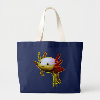 Happy fish large tote bag