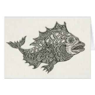 Happy Fish Notecard